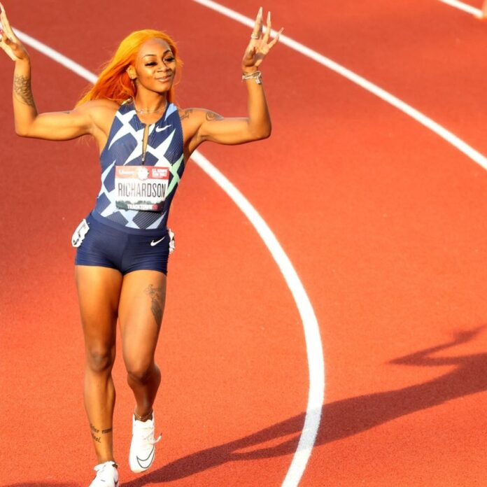 Sha'Carri Richardson is primed to light up the Olympic Games next month. Photo: Cliff Hawkins/Getty Images